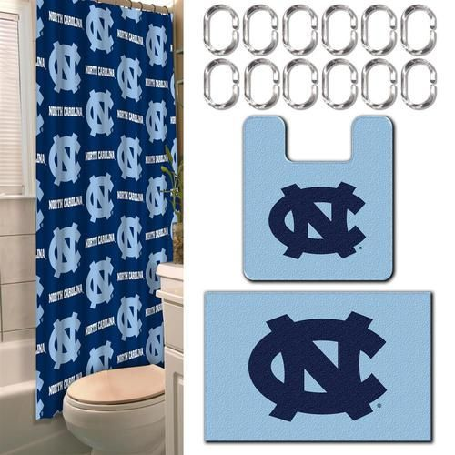North Carolina Tarheels 15 Piece Bathroom Accessory Set. This Ultimate Bathroom  Set Is Color Coordinated To Match Your Teamu0027s Bold Colors, And Decorated ...