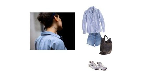 """""""Untitled #239"""" by montmartre1 ❤ liked on Polyvore featuring New Balance, J.Crew, T By Alexander Wang and CÉLINE"""