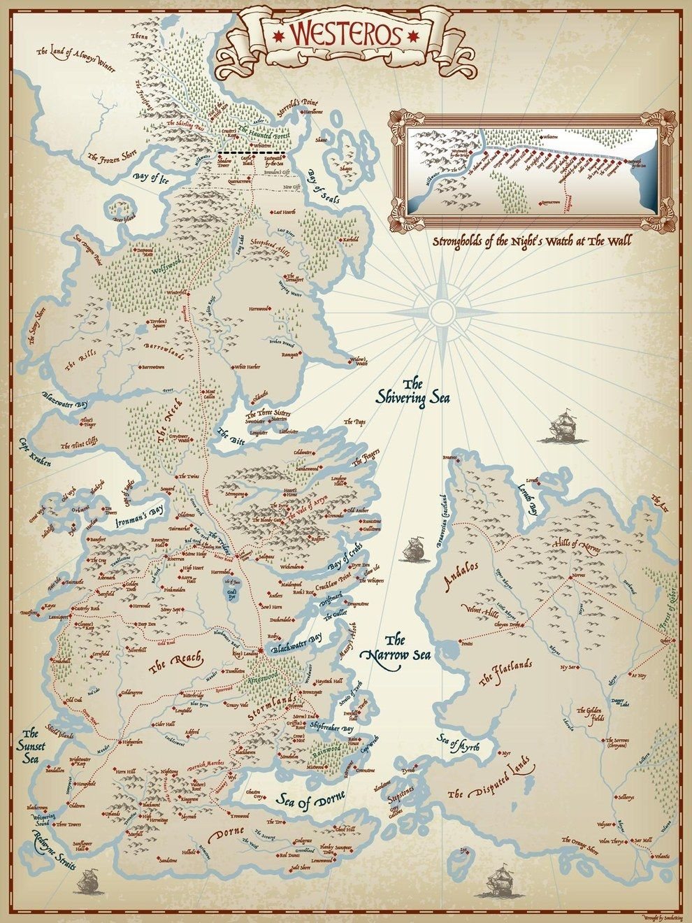 picture about Printable Map of Westeros identify To start with, this extremely fresh new, and uncomplicated map. Induce Im a nerd