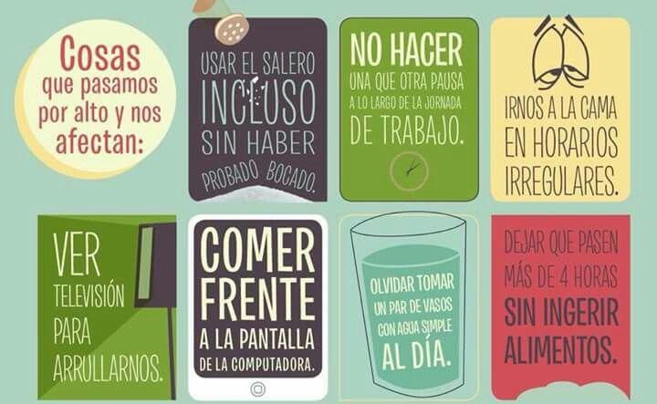 Cosas que nos afectan. #salud #comer #tomaragua #alimentacion