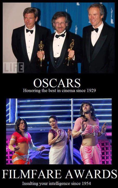 Oscars V S Filmfare Bollywood Funny Bollywood Memes Desi Problems