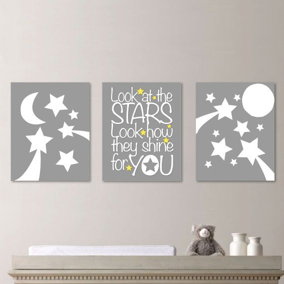 Baby Nursery Art Stars Moon Nursery Decor Moon And Stars Quote Kids Wall Art Baby Gift Gift For Baby Baby Nursery Art Star Nursery Art Wall Kids