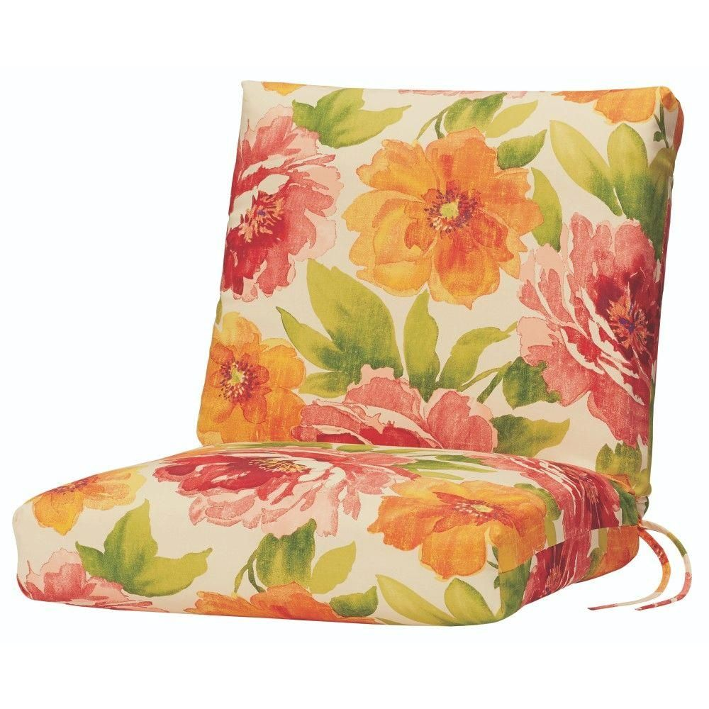 Home decorators collection muree primrose outdoor dining cushion