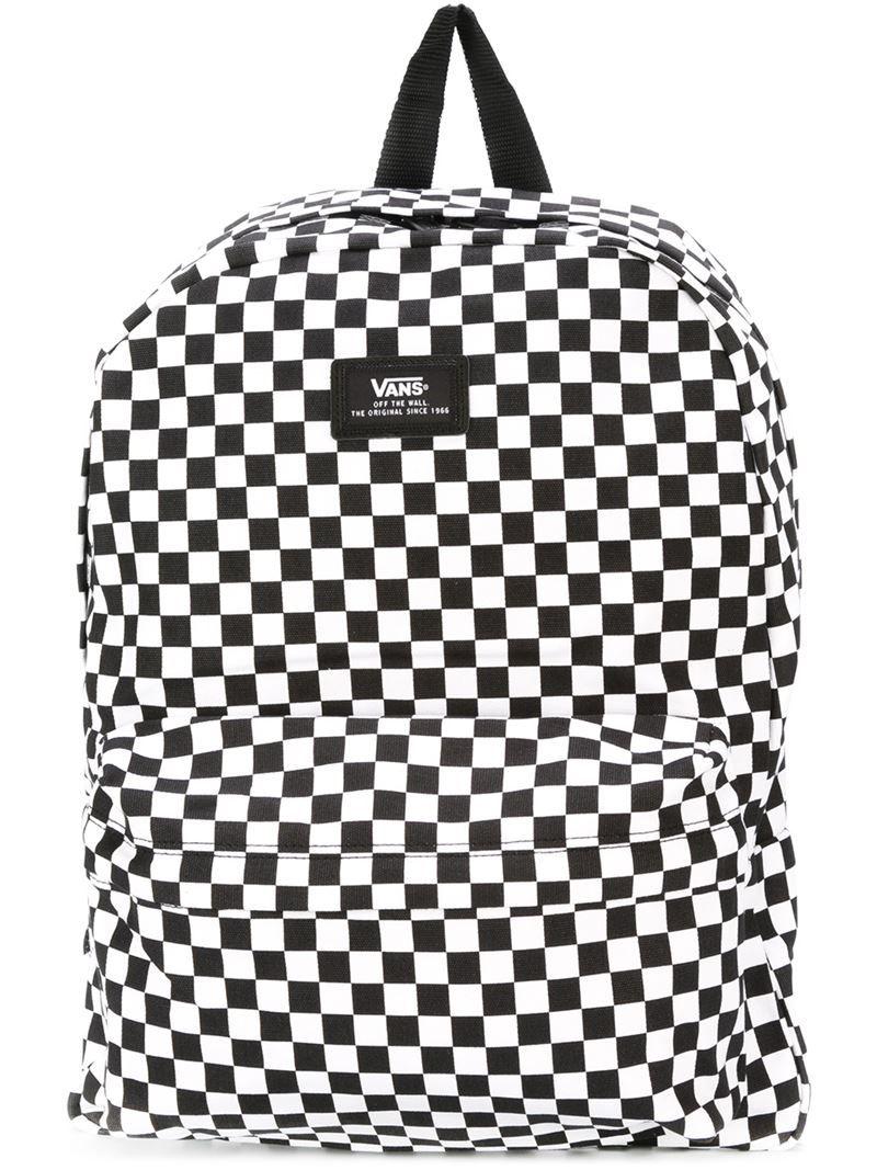 VANS VANS CHESS PRINT BACKPACK . #vans #bags #backpacks