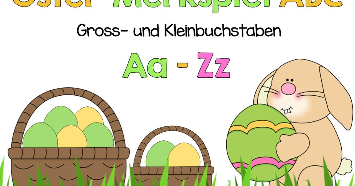Merkspiel: Gross- und Kleinbuchstaben im Osterlook | Klassenkunst ...