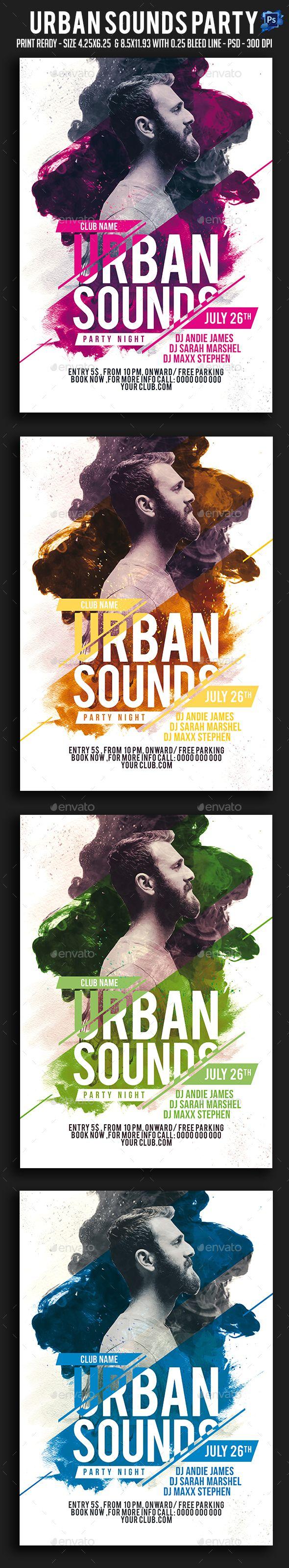 Urban Sounds Party Flyer | Cartelitos