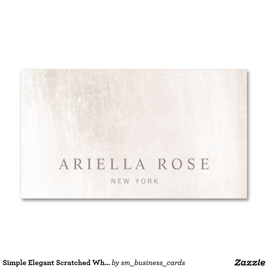 Simple Elegant Brushed White Marble Professional Business Card ...