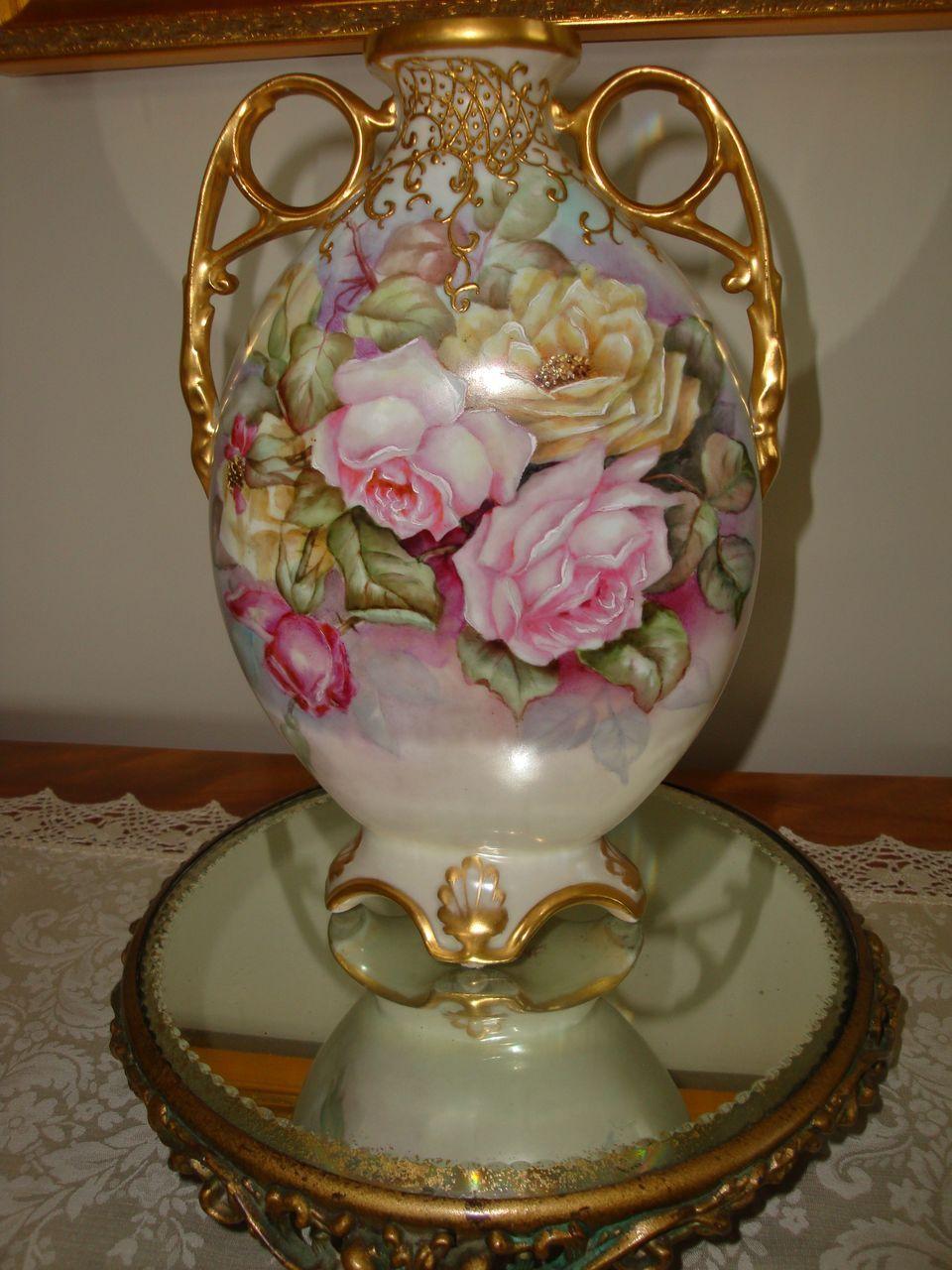 Vintage Orange Swirl Art Glass Hand Blown Vase | Hand