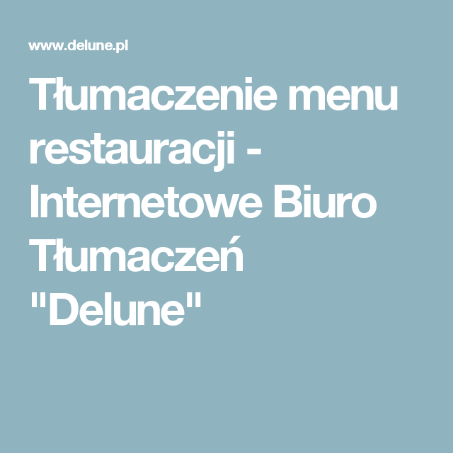 Tlumaczenie Menu Restauracji With Images Restauracja Biuro Kartki