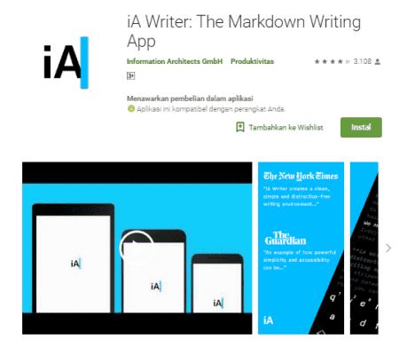 Aplikasi Menulis Terbaik Untuk Android Aplikasi Android Desain Material