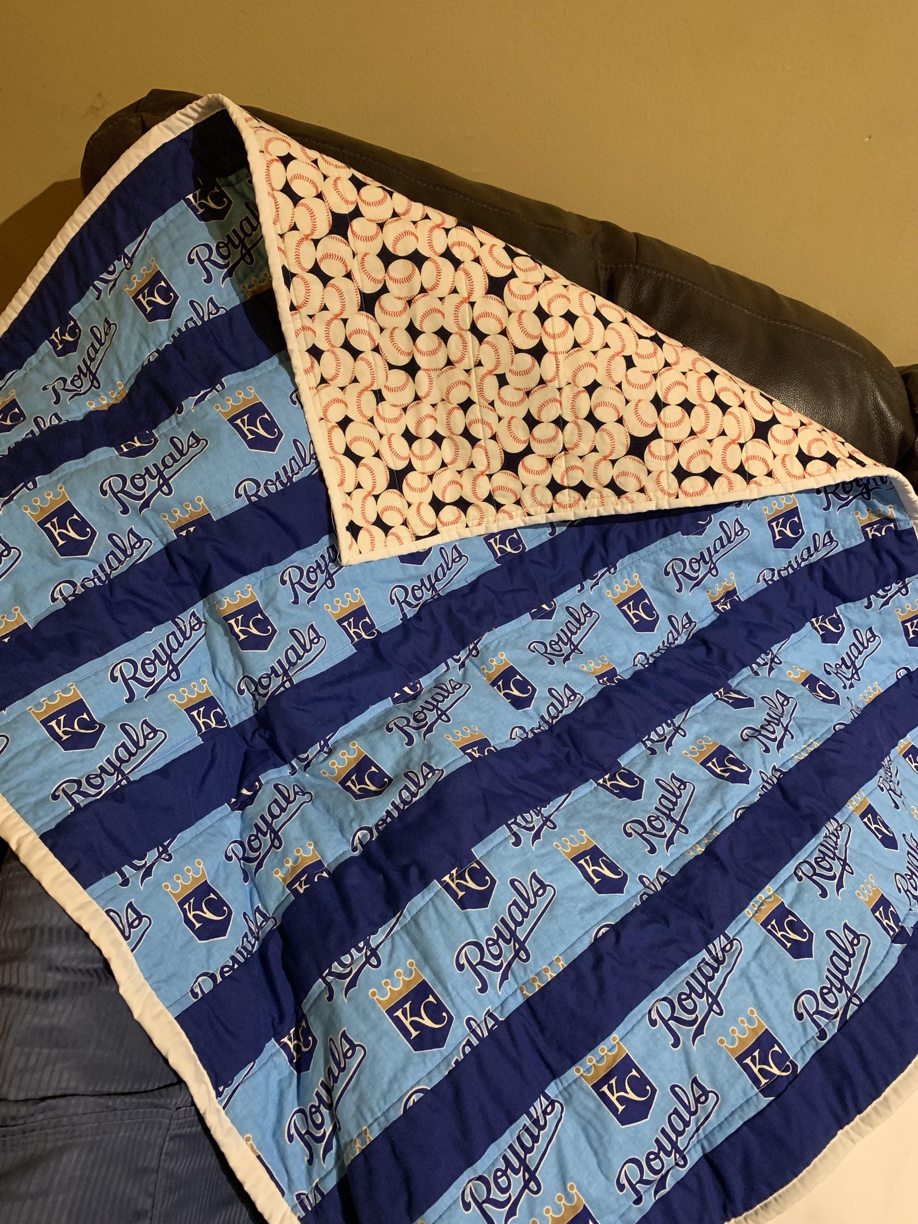 42x50 Toddler Quilt #KC #royals #quilt #babyquilt # ...