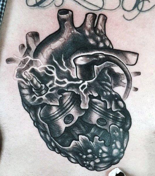 60 Piston Tattoo Designs For Men Unleash High Horsepower In 2020 Piston Tattoo Heart Tattoo Designs Tattoo Designs