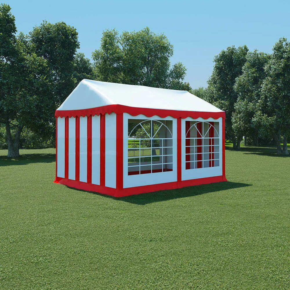 Ebay Sponsored Vidaxl Chapiteau De Jardin Pvc 3x4 M Rouge Et Blanc Tonnelle Tente Pavillon Pavillon Kiosque Jardin Gazebo De Patio