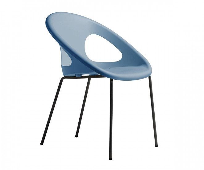 Image For Patti Stackable Plastic Chair Light Blue Charcoal