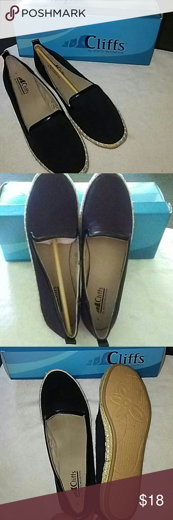 Black canvas flats New in original box!  Black canvas flats sz 8.5M .A very cute and comfortable casual shoe.  Size 7.5 & 8.5 available Shoes Flats & Loafers