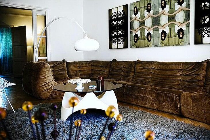 Brown Velvet Toga Sofa (from Ligne Roset · Moderne InneneinrichtungDesign  InterieurLigne ...
