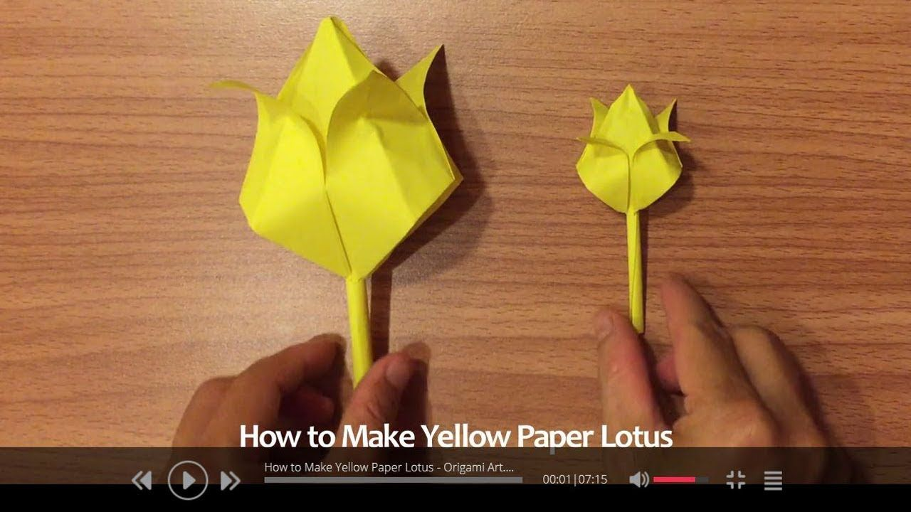 Yellow Paper Art How to Make Paper Lotus Origami Folds