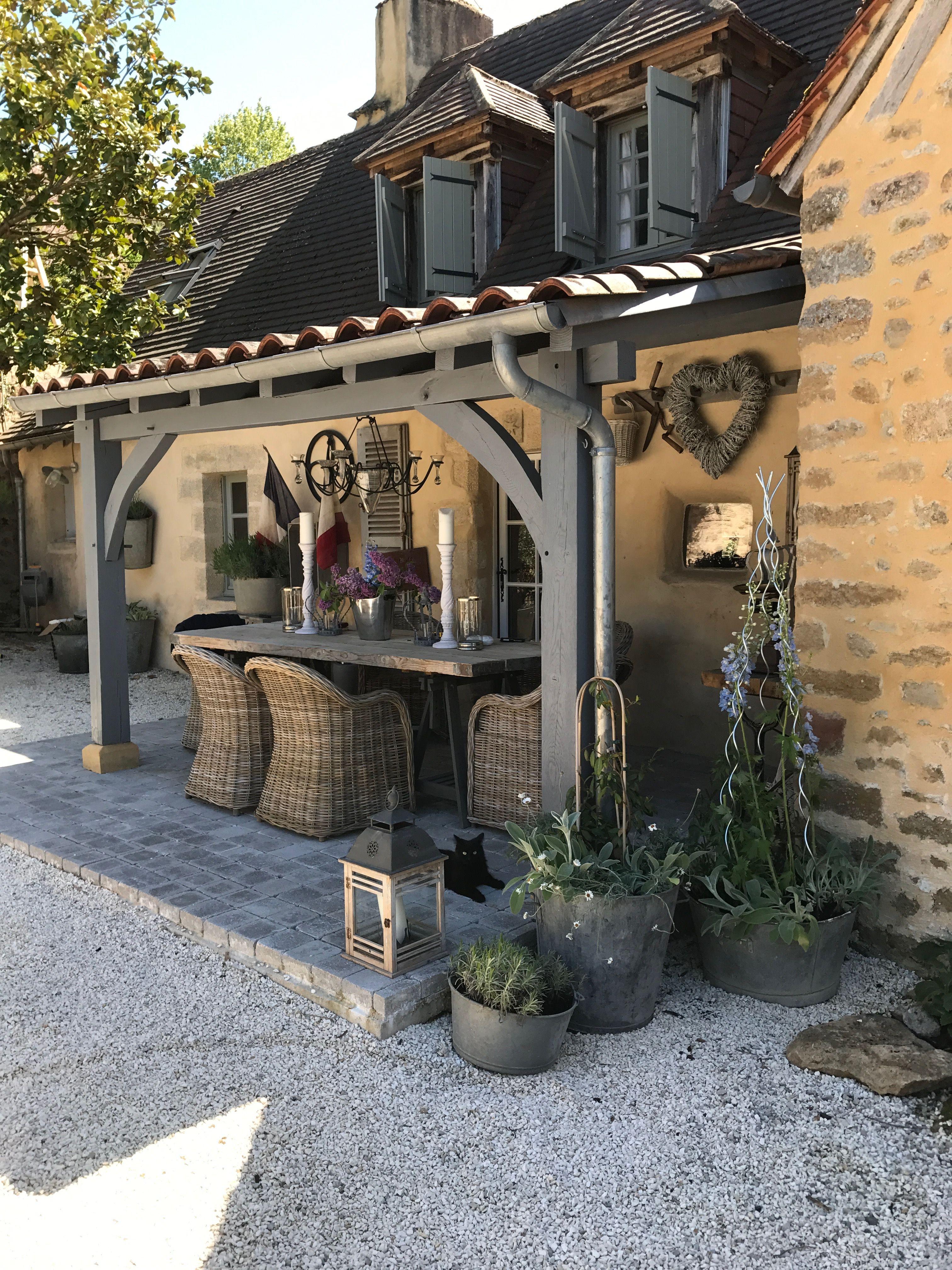 Cute outdoors patio area | Gezellige achtertuin, Huis en ... on Patio Lean To Ideas id=81555