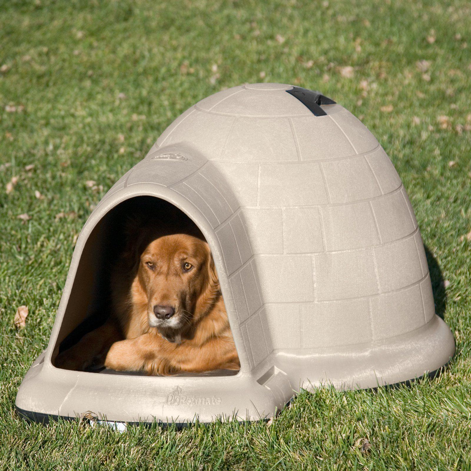 Petmate Indigo Dog House Tan Www Hayneedle Com Igloo Dog House Dog House Dog Door