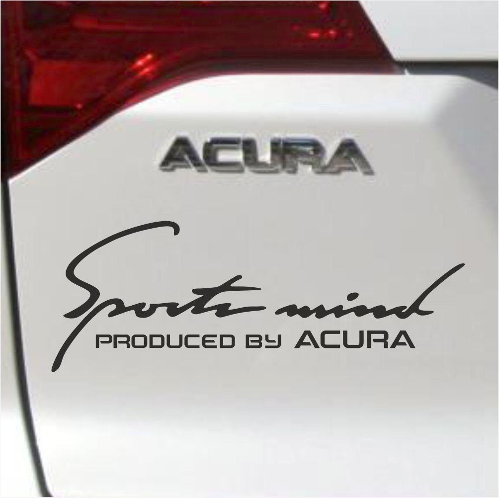 Details About Acura Decal Sports Mind Produced By Acura