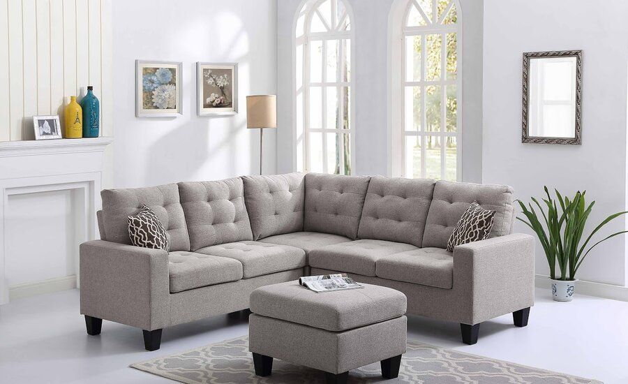 Pawnee Symmetrical Sectional With Ottoman With Images Sectional Sofa