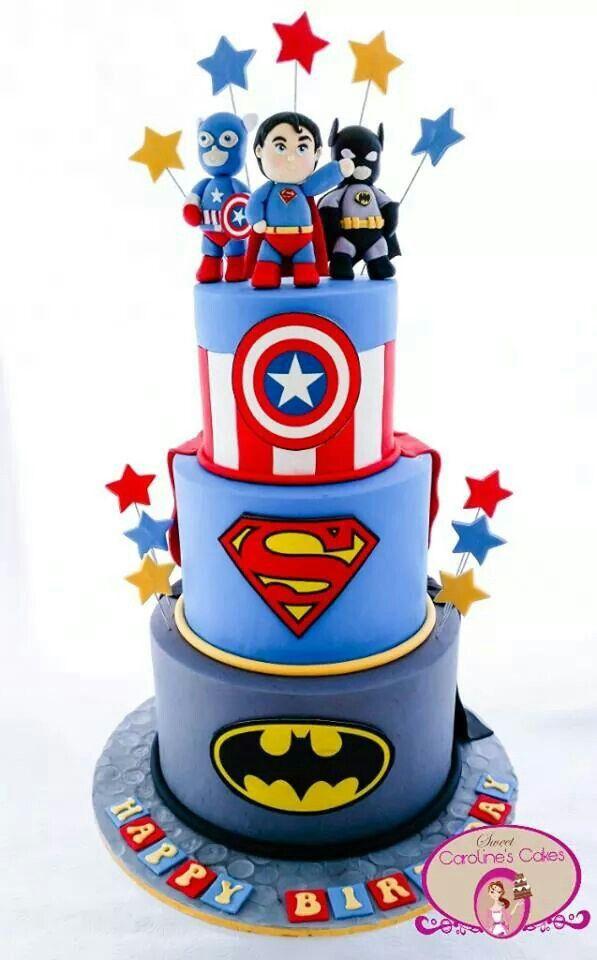 Pin By Alina Orona On Cumple Superheroe Pinterest Cake
