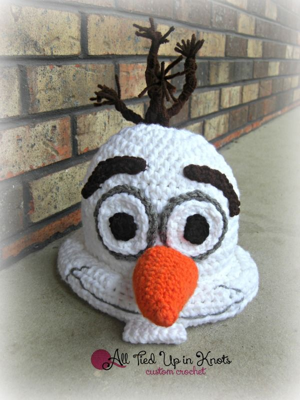 Crochet Olaf Inspired Hat. Pattern by Snappy Tots. Inspired by All ...