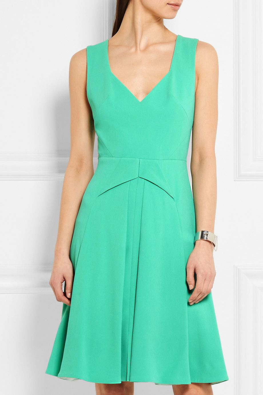 Roland Mouret | Miller pleated stretch-crepe dress | NET-A-PORTER.