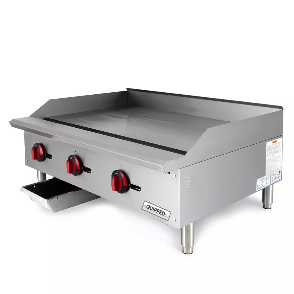 Equipped Gr36 36 Gas Griddle Manual 3 4 Steel Plate Natural Gas Outdoor Kitchen Design Commercial Kitchen Equipment Insulated Siding