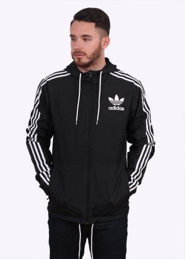 Adidas Originals Apparel CLFN Windbreaker Black   Adidas