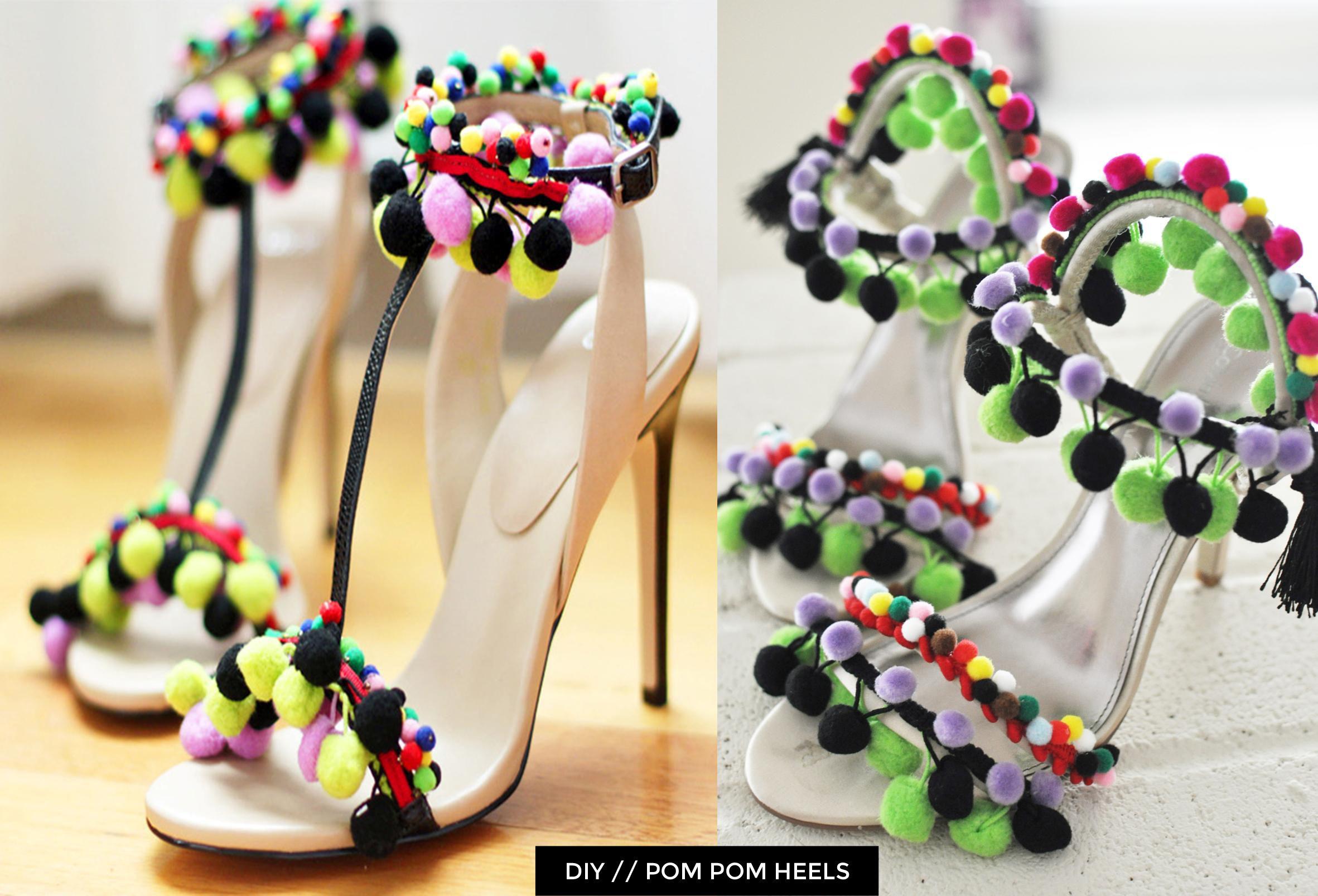 7ff9a781d5 ASOS vs DIY_Pom Pom Heels_Images_w text | Fashionista... | Summer ...