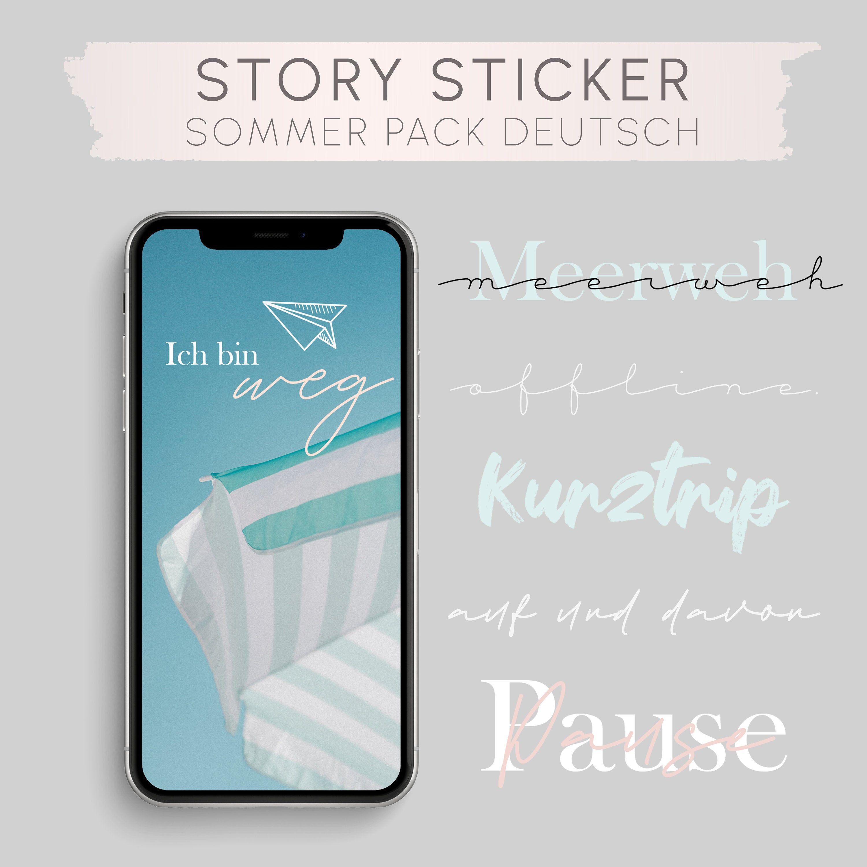 Story Sticker German 50 Deutsche Story Sticker Instagram Etsy In 2020 Etsy Instagram Instagram Instagram Story