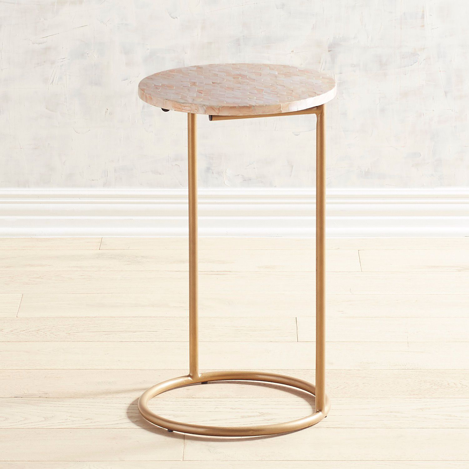 Blush Mother-of-Pearl C-Table | Pier 1 Imports | C table ...