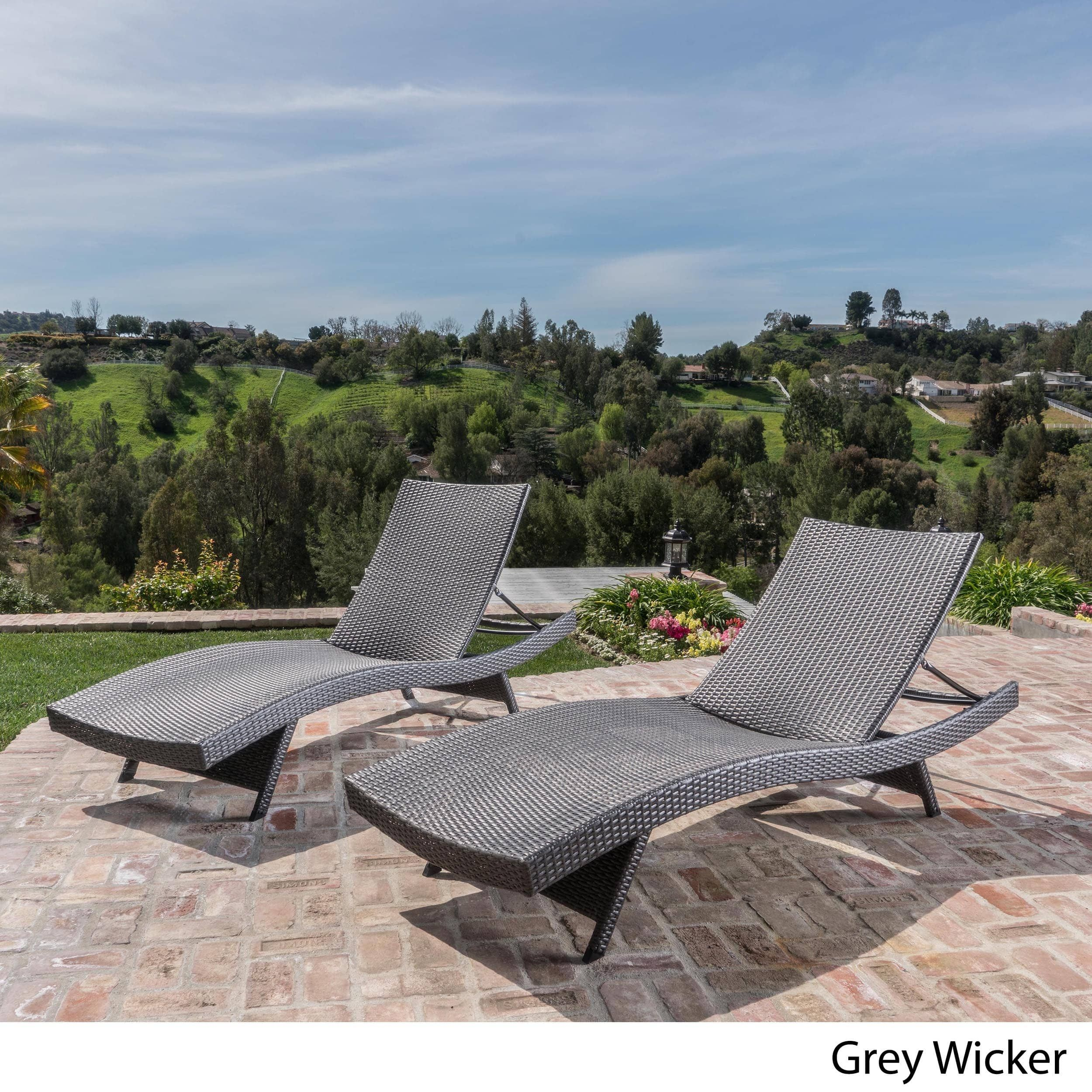 Toscana Outdoor Wicker Lounge Chairs By Christopher Knight Home (Set Of 2)  (Brown), Patio Furniture. Grey Chaise ...
