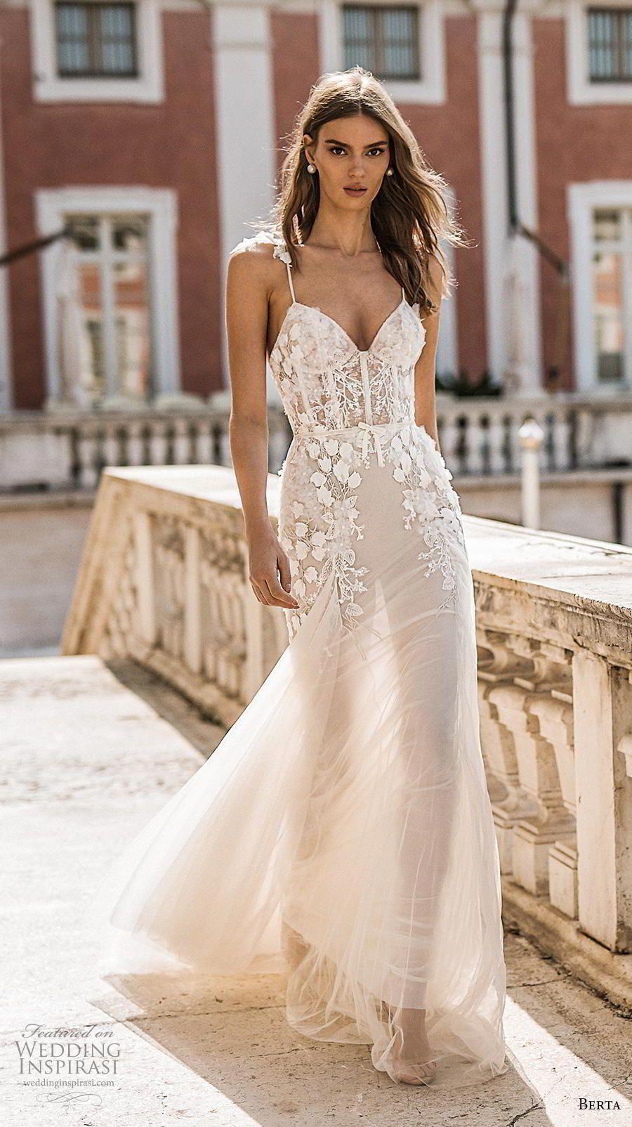 berta 2019 privee bridal spaghetti strap sweetheart