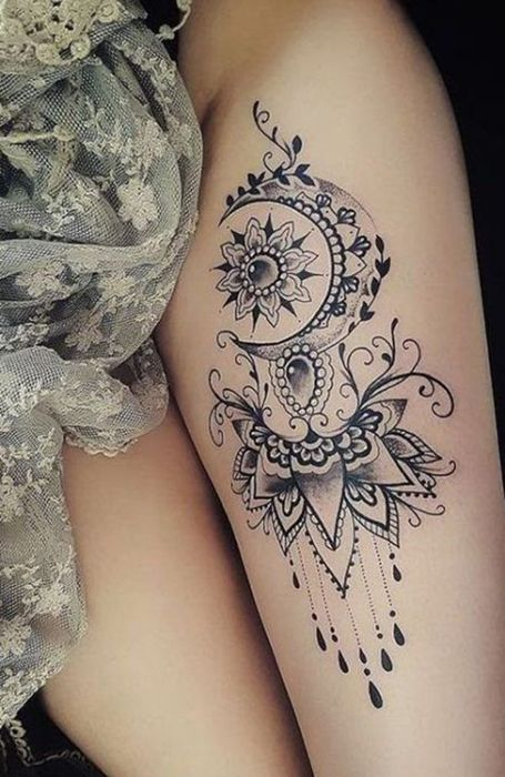 20 Sexy Thigh Tattoos for Women