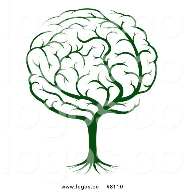 royalty free clip art vector logo of a green tree brain designs on rh pinterest com brain clipart black and white brain clipart transparent