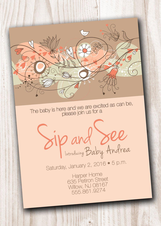 SIP and SEE Invitation Printable Digital file by ScriptureWallArt