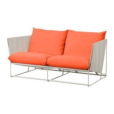 HAVSTEN 2seat sofa, in/outdoor Orange/beige IKEA