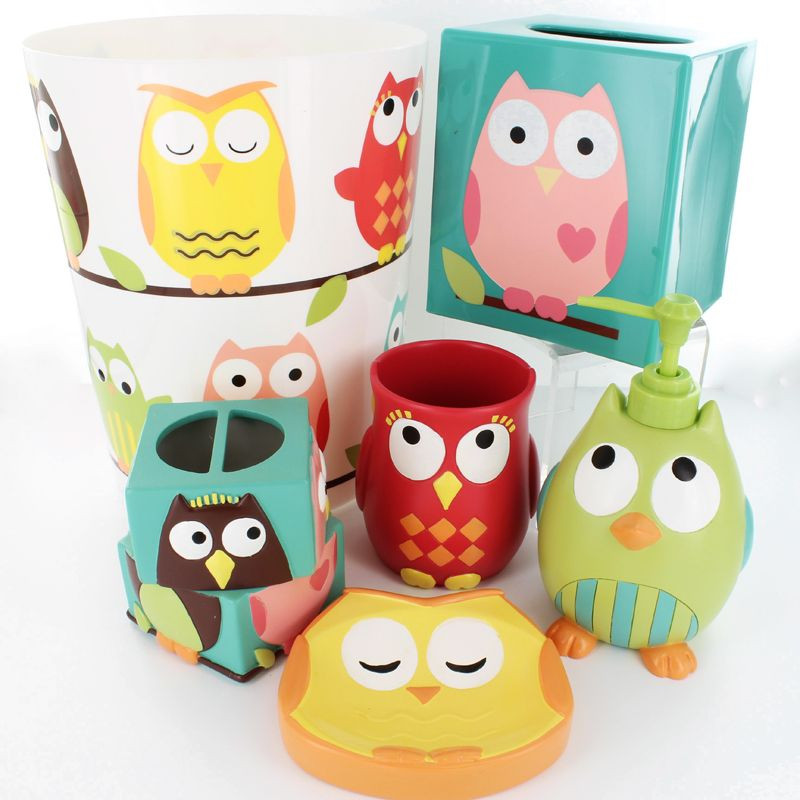 You Are Sure To Love Our Adorable Owl Bath Accessory Set From