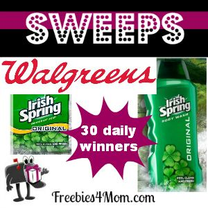 Enter daily for a chance to win the Walgreens' Irish Spring Legendary Giveaway. There will be 1 winner of a trip for twoto Dublin, Ireland (value $7,000),100 winners of a $50 American Express gif...