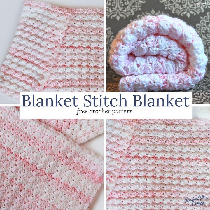 Blanket Stitch Crochet Baby Blanket | Para bebés, Bebé y Colchas