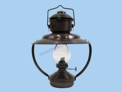 "Antique Iron Trawler Oil Lamp 10"" from Handcrafted Nautical Decor - In stock and ready to ship"