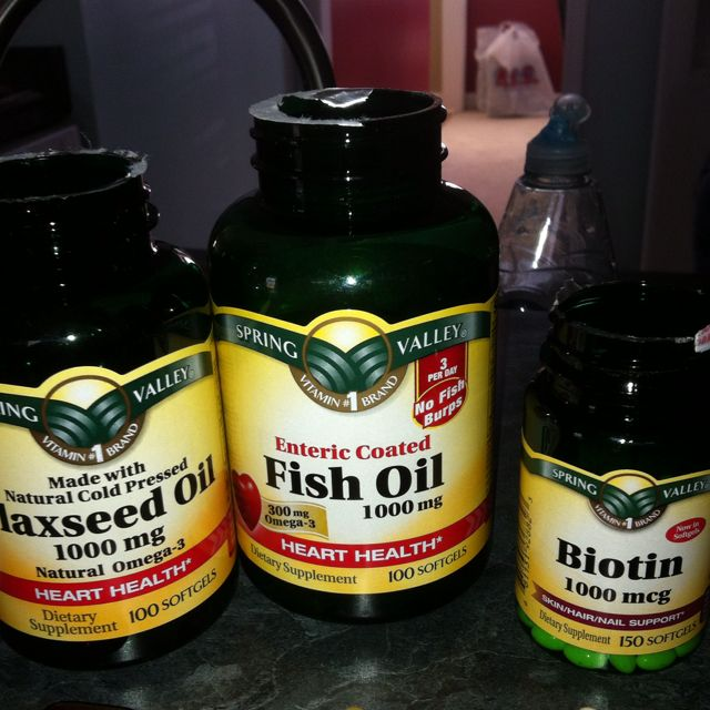 Biotin flaxseed oil fish oil are great to make your for Flaxseed oil or fish oil