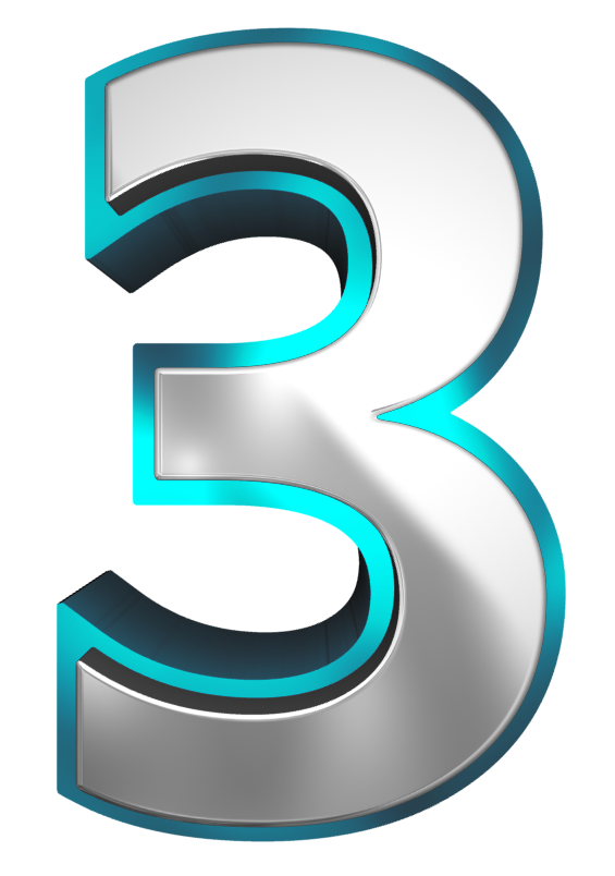 Metallic And Blue Number Three Png Clipart Image Gallery Yopriceville High Quality Images And Transparent Png Free C Clip Art Clipart Images Free Clip Art