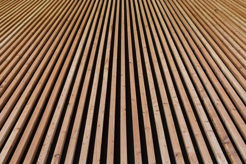 R novation d 39 un gymnase l 39 aide de panneaux acoustiques - Pose lambris bois sans tasseaux ...