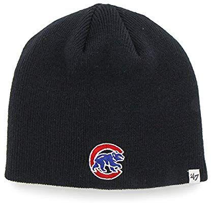 8ffe1a134b8 Amazon.com   Chicago Cubs Navy Blue Skull Cap - MLB Cuffless Winter Knit  Toque Beanie Hat   Sports   Outdoors