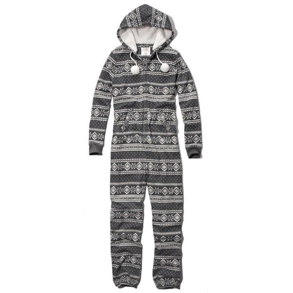 Abercrombie & Fitch FAIR ISLE SLEEP ONESIE (145 PEN) ❤ liked on ...