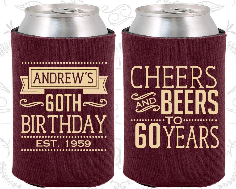 60th Birthday Favors Adult Cheers To 60 Years And Beers Party 20001 Beerparty