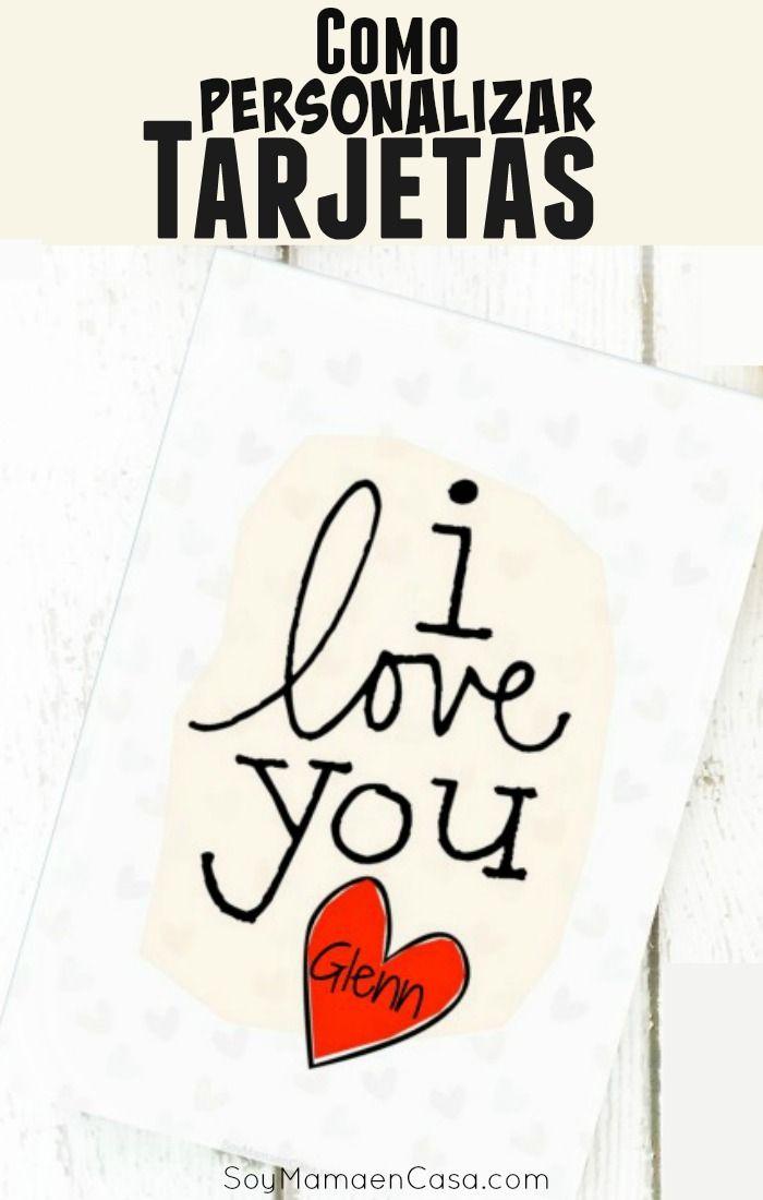 Cómo personalizar tarjetas y decorarlas a tu gusto usando Picmonkey gratuito. Además linda tarjeta para imprimir gratis en San Valentín o cualquier día => Haz PIN para guardar, no te lo puedes perder :)
